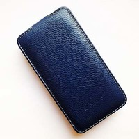Кожаный чехол Melkco Leather Case Dark Blue LC для Samsung G355H Galaxy Core 2 Duos