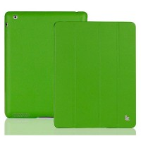 Кожаный чехол Jisoncase Executive Smart Cover Green для Apple iPad 4/3/2