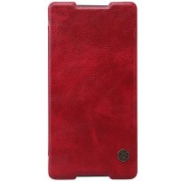 Кожаный чехол Nillkin Qin Leather Case Red для Sony Xperia Z4