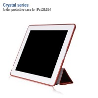 Кожаный чехол HOCO Crystal Series Brown для Apple iPad 4/3/2