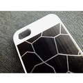 Пластиковый чехол Broken line White/Black для Apple iPhone 5/5S/5SE(#2)