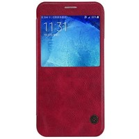 Кожаный чехол Nillkin Qin Leather Case Red для Samsung Galaxy A8