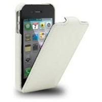 Кожаный чехол книга Melkco Leather Case White LC для Apple iPhone 4/4S
