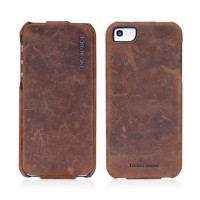Кожаный чехол Borofone Colonel leather case Brown для Apple iPhone 5/5S/5SE