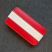Кожаный чехол Melkco Leather Case Red/White LC для Samsung i9190 Galaxy S4 mini