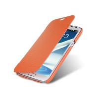 Кожаный чехол Melkco Leather Case Orange для Samsung N7100 Galaxy Note 2