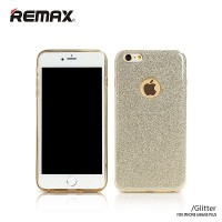 Силиконовый чехол Remax Glitter Series Gold для Apple iPhone 6/6S