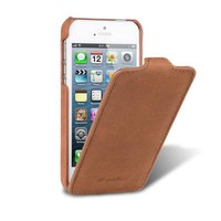 Кожаный чехол книга Melkco Leather Case Vintage Brown LC для Apple iPhone 5/5S/5SE