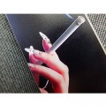 Пластиковый чехол Hand with a cigarette Black для Apple iPhone 5/5S/5SE(#2)