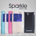 Полиуретановый чехол Nillkin Sparkle Leather Case Ocean для Sony Xperia C3 S55t(#4)