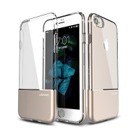 Силиконовый чехол Usams TPU Aluminium Case Cover Gold для Apple iPhone 6/6S