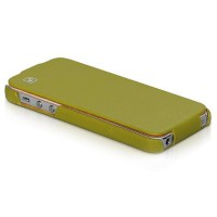 Кожаный чехол HOCO Duke leather case Green для Apple iPhone 5/5S/5SE