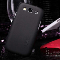 Пластиковый чехол Nillkin Super Frosted Shield Black для Samsung i9300 Galaxy S3