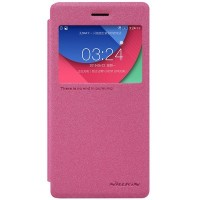 Полиуретановый чехол Nillkin Sparkle Leather Case Red для Lenovo Vibe Shot Z90