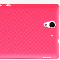 Пластиковый чехол Nillkin Super Frosted Shield Bright Red  для Sony Xperia C3 S55t