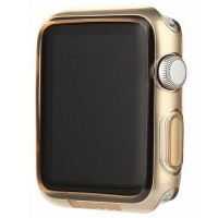 Силиконовый чехол Baseus TPU Case Gold для Apple Watch 38mm Series 1\2\3