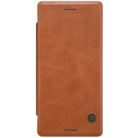 Кожаный чехол Nillkin Qin Leather Case Brown для Sony Xperia X Performance