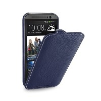 Кожаный чехол Melkco Leather Case Dark Blue LC для HTC One M8
