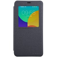 Полиуретановый чехол Nillkin Sparkle Leather Case Black для Meizu M1 Note