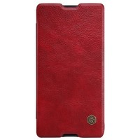 Кожаный чехол Nillkin Qin Leather Case Red для Sony Xperia M5