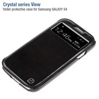 Кожаный чехол HOCO Crystal leather Case Black для Samsung i9500 Galaxy S4