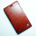 Кожаный чехол HOCO Crystal leather Case Brown для Nokia Lumia 1020(#2)