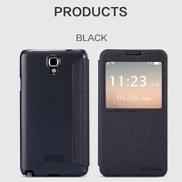 Полиуретановый чехол Nillkin Sparkle Leather Case Black для Samsung N7505 Galaxy Note 3 Neo Dual