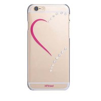 Пластиковый чехол X-Fitted Crystal Hardness Heart для Apple iPhone 6/6S