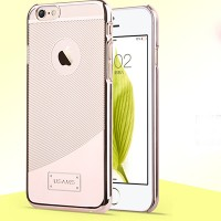 Пластиковый чехол Usams E-Planting Series Gold для Apple iPhone 6/6S
