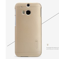 Пластиковый чехол Nillkin Super Frosted Shield Gold для HTC One M8