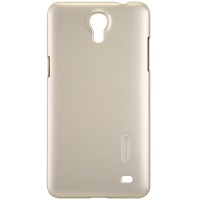 Пластиковый чехол Nillkin Super Frosted Shield Gold  для Samsung G750F Galaxy Mega 2