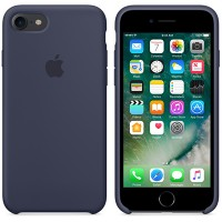 Силиконовый чехол Silicone Case Dark Blue для Apple iPhone 7/iPhone 8