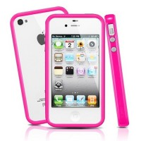 Бампер SGP Neo Hybrid 2S Pastel Series Pink для Apple iPhone 4/4S