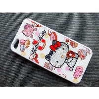 Пластиковый чехол Hello Kitty White Crystal для Apple iPhone 5/5S/5SE