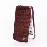 Кожаный чехол HOCO Knight Brown для Apple iPhone 5/5S/5SE