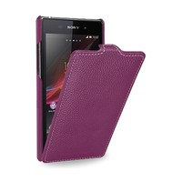 Кожаный чехол Melkco Leather Case Purple LC для Sony Xperia Z1 L39h