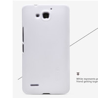 Пластиковый чехол Nillkin Super Frosted Shield White для Huawei Ascend G750 Honor 3X
