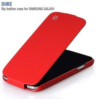 Кожаный чехол HOCO Duke Leather Case Red для Samsung i9190 Galaxy S4 mini