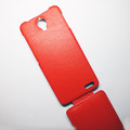 Кожаный чехол Armor Case Red для Alcatel One Touch Idol X 6040(#4)