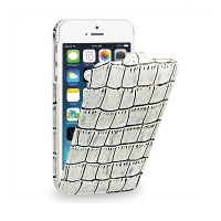 Кожаный чехол-книга TETDED Troyes White Crocodile для Apple iPhone 5/5S/5SE