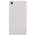 Полиуретановый чехол Nillkin Sparkle Leather Case White для Sony Xperia M4 Aqua(#2)
