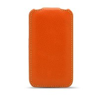 Кожаный чехол Melkco Leather Case Orange для Samsung i9100 Galaxy S2