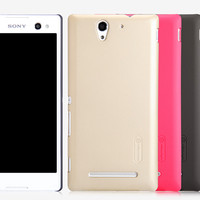 Пластиковый чехол Nillkin Super Frosted Shield Gold  для Sony Xperia C3 S55t