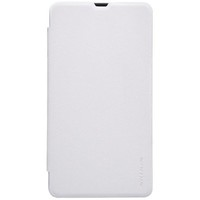Полиуретановый чехол Nillkin Sparkle Leather Case White для Nokia Lumia 535