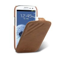Кожаный чехол Melkco Prime Dotta Brown Wax Leather для Samsung i9300 Galaxy S3