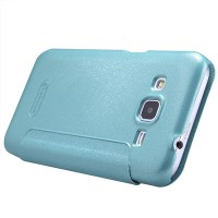 Полиуретановый чехол Nillkin Sparkle Leather Case Blue для Samsung G360 Galaxy Core Prime