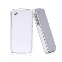 Кожаный чехол HOCO Duke leather case White для Apple iPhone 5/5S/5SE