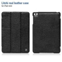 Кожаный чехол HOCO Litchi Series Black для Apple iPad mini