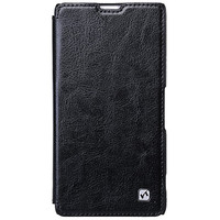 Кожаный чехол HOCO Crystal leather Case Black для Sony Xperia Z1 L39h