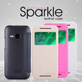 Полиуретановый чехол Nillkin Sparkle Leather Case Rose для HTC One M8 mini 2(#4)